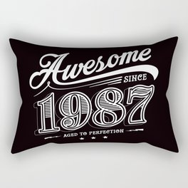 Awesome since 1987 Rectangular Pillow