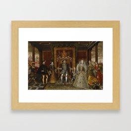 The family of Henry VIII Framed Art Print