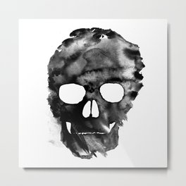 Black skull Metal Print