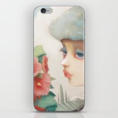 Pensees et roses tremieres iPhone & iPod Skin