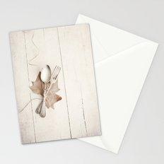Cubiertos y hoja. Stationery Cards