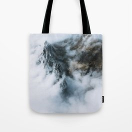 Moody Switzerland Mountain Peaks - Landscape Photography Tote Bag
