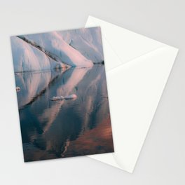 Minimalist Iceberg Reflection during sunset in the arctic Ocean  Stationery Cards