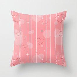 Heart shapes Throw Pillow