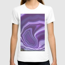 Purple colored agate T-shirt