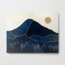 Mt Hood Sapphire Blue Wilderness Metal Print