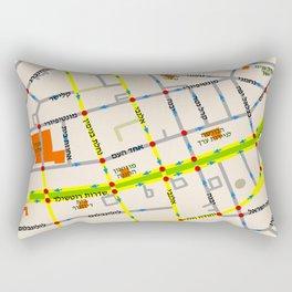 Tel Aviv map - Rothschild Blvd. Hebrew Rectangular Pillow