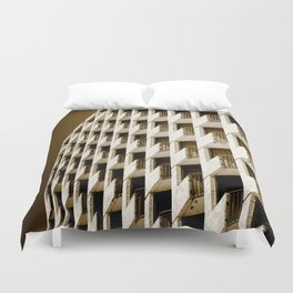 Hotel Balconies-Sepia Duvet Cover