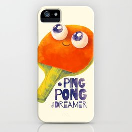 Ping-pong dreamer iPhone Case