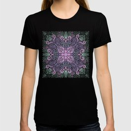 Watercolor Ornate Pattern in Purple, Pink and Green T-shirt