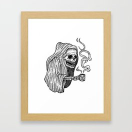 death before decaf Framed Art Print
