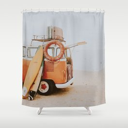 lets surf viii Shower Curtain