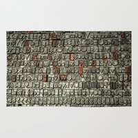 letters Area & Throw Rugs featuring Letters by Sébastien BOUVIER