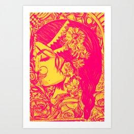 Queen Orange Art Print