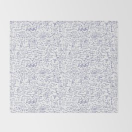 Physics Equations in Blue Pen Throw Blanket