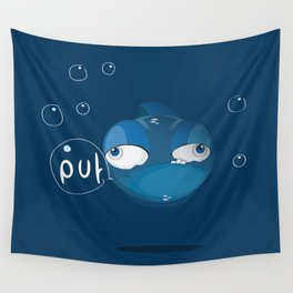 Character collection saltwater fish puff Wall Tapestry