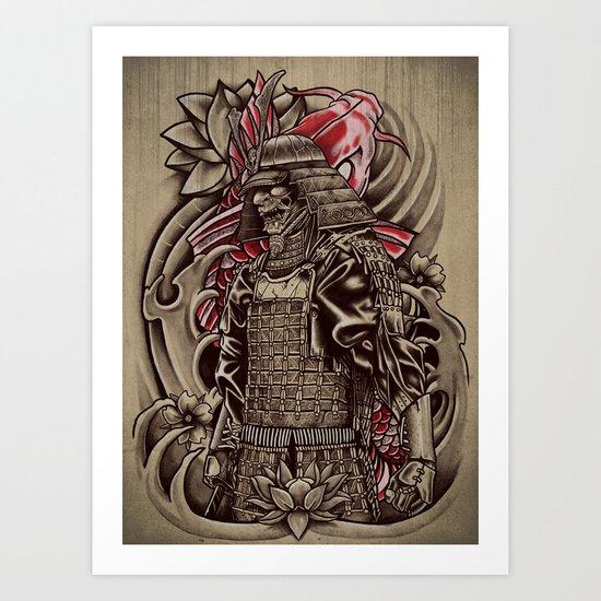 Samurai Koi Art Print