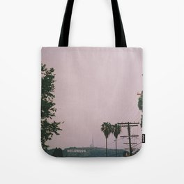 Rainy Hollywood - a rare sight Tote Bag