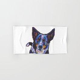 Australian Cattle Dog Portrait blue heeler colorful Pop Art Painting by LEA Hand & Bath Towel