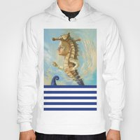 sea horse Hoodies featuring Sea horse by Nataliya Derevyanko