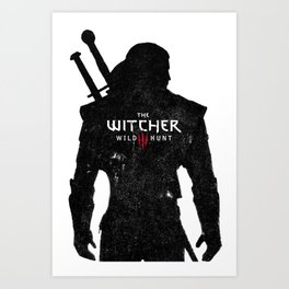 Geralt Silhouette Art Print