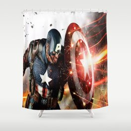 Man Of Captain In America Shower Curtain
