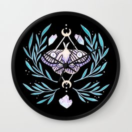 Moon Moth 01 Wall Clock