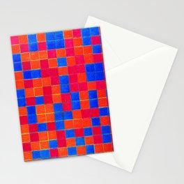 Piet Mondrian Checkerboard Grid Stationery Cards