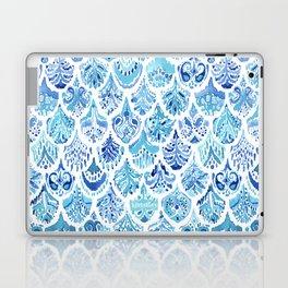 PAISLEY MERMAID Watercolor Scale Pattern Laptop & iPad Skin