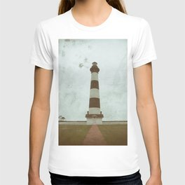 Bodie Lighthouse Glass Plate Effects Coastal Landscape Photograph T-shirt