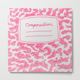 Composition Book Pink  Metal Print
