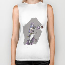 Dark sorceress by AngeloPeluso Biker Tank