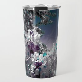 Flowers Purple & Teal Travel Mug