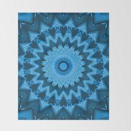 Kaleidoscope blue is good 02 Throw Blanket