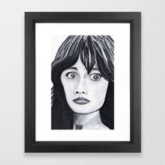 Zooey Framed Art Print