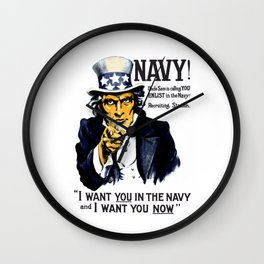 I Want You In The Navy -- Uncle Sam Wall Clock