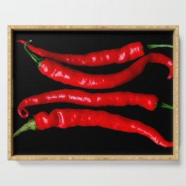 Four Red Chilies Serving Tray