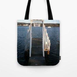 Wharf Walk Tote Bag