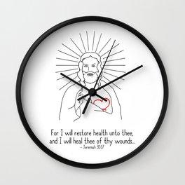 For I Will Restore Health Wall Clock