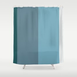 Parable to Behr Blueprint Color of the Year and Accent Colors Vertical Stripes Shower Curtain