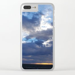 Stormy New Mexico Sunset Clear iPhone Case