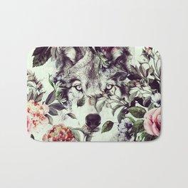 Floral Wolf Bath Mat
