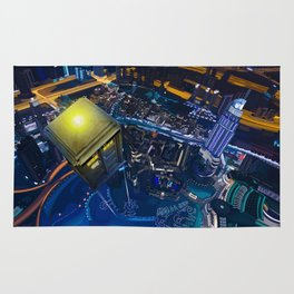 Tardis doctor who Flying at modern starry night iPhone, ipod, ipad, pillow case and tshirt Rug