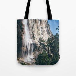Yosemite Falls with Half Dome Tote Bag