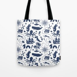 High Seas Adventure // Navy Blue Tote Bag