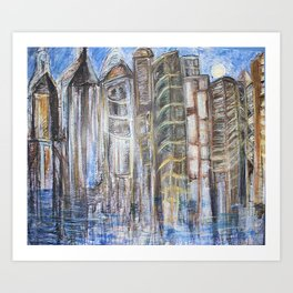 Coffee-Stained Nights Art Print