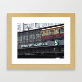 Berlin Friedrichstrasse, Station, Germany Framed Art Print