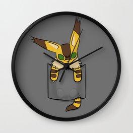Pocket Teto (Fox Squirrel) Wall Clock