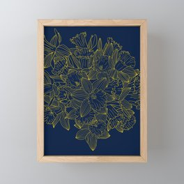 Daffodils by Night Framed Mini Art Print