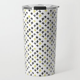 Abstract crosshatch Travel Mug